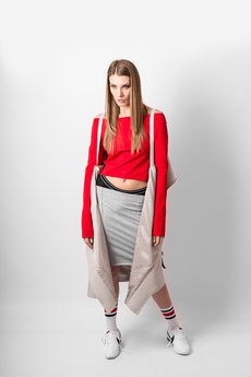 REST FACTORY - RED CROP TOP