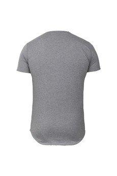 MADOX design - T-shirtszary z kieszonką z logo męski