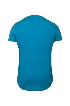 MADOX design - T-shirt turkusowy z kieszonką  męski