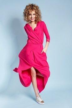 Madnezz - Sukienka Rachel Maxi - Malinowa
