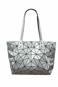 Papillon - Geometric srebrna torebka