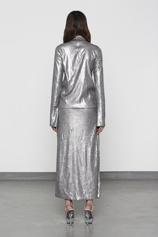 MISBHV - SILVER SEQUIN NECK TOP
