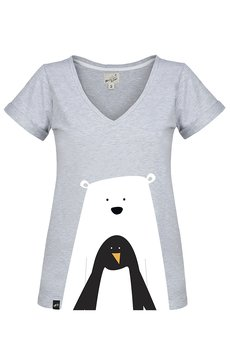 Meet The Llama - SAMBACA Bear with Penguin - Tshirt