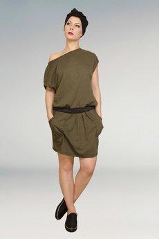 Non Tess - dzianinowa spódnica khaki ze ściągaczem