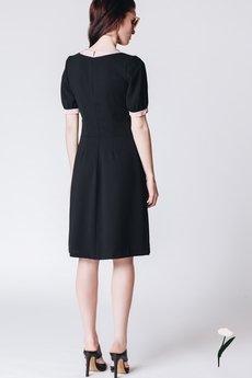 RabbitRabbit! - Czarna sukienka z kokardą JACKIE