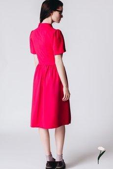 RabbitRabbit! - Różowa sukienka z ozdobną plisą  CONSTANZA