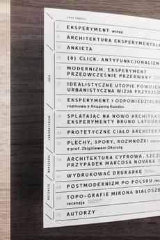 Kwartalnik Architektoniczny RZUT +3 EKSPERYMENT - 61486
