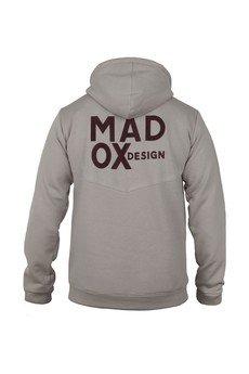 MADOX design - Beżowa bluza z haftem na plecach