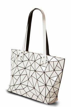 Papillon - Geometric biała torebka