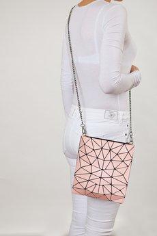Papillon - Geometric torebka różowa z łańcuszkiem