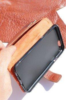 Berlose - Pokrowiec skórzany Berlose na telefon Samsung Galaxy A3 2017
