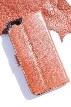 Berlose - Pokrowiec skórzany Berlose na telefon iPhone SE