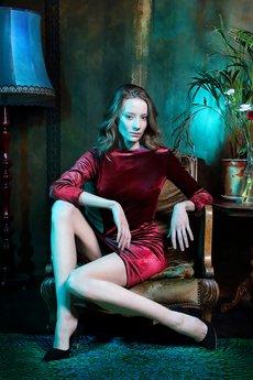 Malove Fashion - Sukienka aksamitan