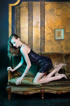 Malove Fashion - Sukienka wieczorowa na ramiączkach