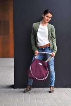 Militu - Duża torba typu shopper Mili Duo MD1 - burgund