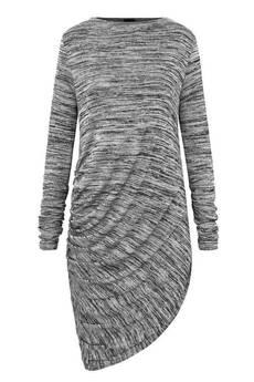 Candy Floss - sukienka drapowana szary melanż