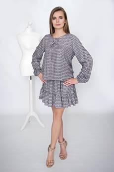 Moelle - Sukienka Sandra Drobny wzór