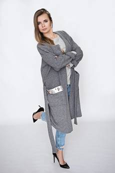 Moelle - Szary cardigan z cekinami