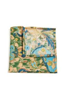 r3s men's accessories - POSZETKA LNIANA BLUE GREEN ORIENTAL