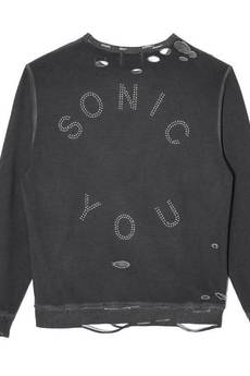 MISBHV - SONIC YOU STUDDED DAMAGED SWEATSHIRT