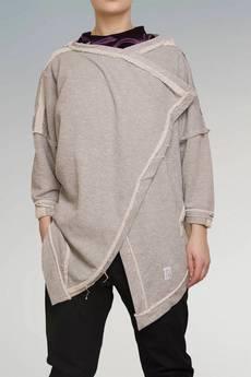 Non Tess - srebrna metaliczna bluza undone