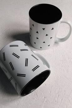 [håndverk] - Kubek ceramiczny w paseczki