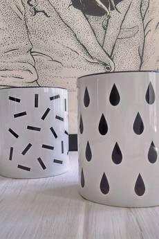 [håndverk] - Kubek ceramiczny w kropelki