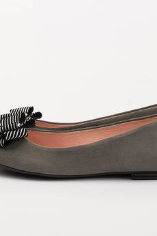 A&P Moccs - GRAY & STRIPES Balerinki A Little Glamour