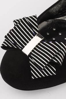 A&P Moccs - BLACK & STRIPES  Balerinki A Little Glamour