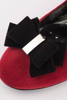 A&P Moccs - BURGUND & BLACK Balerinki A Little Glamour