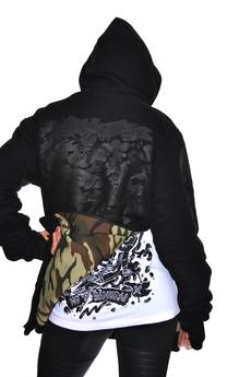 DON'T NEED NO SAMURAI - Double Killer Hoodie Camo