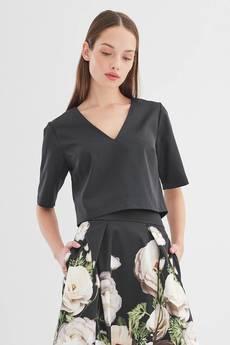 ECHO - Krótka bluzka dekolt V Mimi