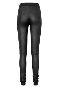 Candy Floss - drapowane legginsy z eko skóry