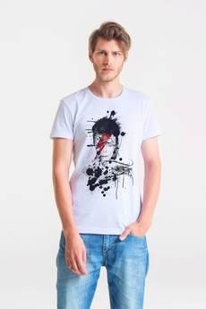 GAU great as You - BOWIE PAINTED - t-shirt męski biały