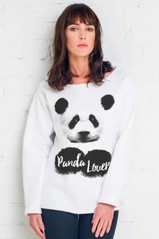 GAU great as You - PANDA LOVER bluza oversize biała