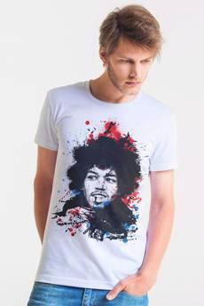 GAU great as You - HENDRIX PAINTED - t-shirt męski biały