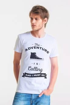 GAU great as You - ADVENTURE - t-shirt męski biały