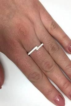 ATdiament - Srebrny pierścionek geometryczny