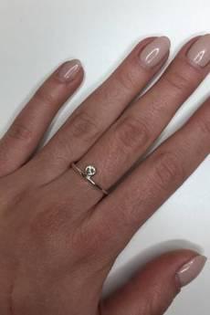 ATdiament - Srebrny pierścionek z cyrkonią
