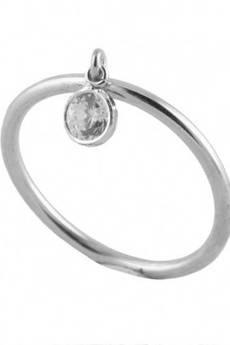 ATdiament - Srebrny pierścionek z ruchomą cyrkonią