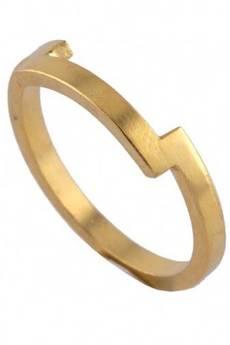 ATdiament - Srebrny pozłacany pierścionek
