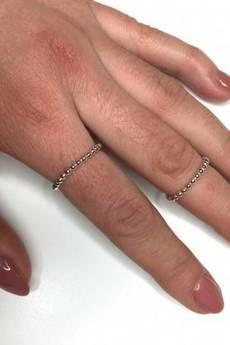 ATdiament - Srebrny pierścionek obrączka z kulek