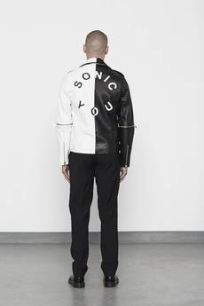 MISBHV - SONIC YOU BIKER JACKET BICOLOR BLACK/WHITE MENS