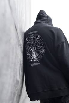 The Hive - FRAME HOODIE IN WASHED BLACK