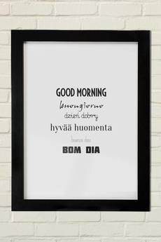 GAU Home - GOOD MORNING Plakat 30x40