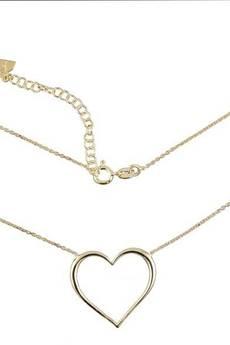 ATdiament - Srebrny pozłacany naszyjnik serce duże