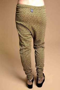 Non Tess - spodnie aztec we wzór baggy ze złotą nitką XL XXL
