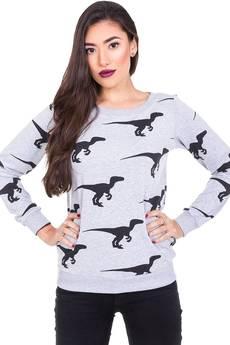 Bluza w dinozaury szara