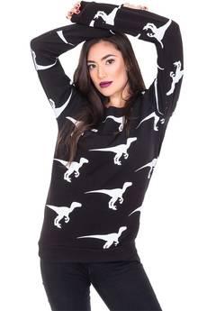 Bluza w dinozaury czarna