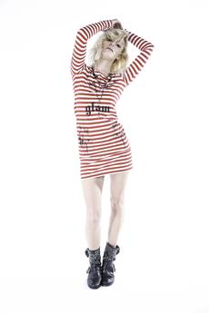 GLAM - #GLAM ROSES STRIPES DRESS